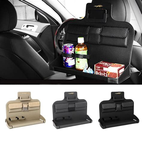 Organizer Mobil Chair Car Pocket Seat Organizer Black Rk 09 Car Back Seat Tray Food Table Meal Desk Stand Drink Cup