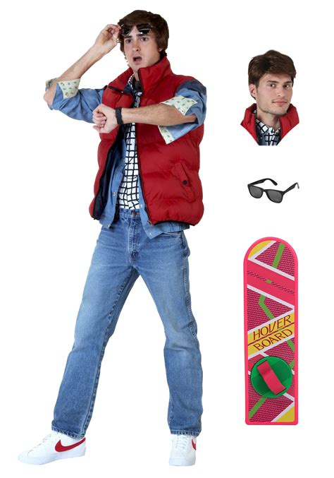 women s marty mcfly costume marty mcfly men s costume package from back to the future