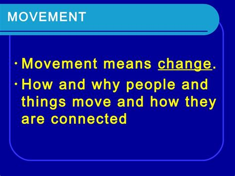 theme movement definition the five themes of geography