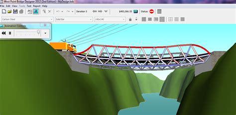 design jembatan aplikasi sipil desain jembatan west point bridge designer