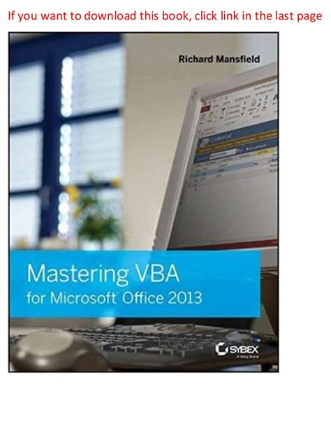 Ebook Mastering Direct Access Fundamentals mastering vba for microsoft office 2013 2nd edition ebook pdf