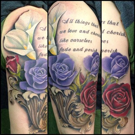 roses and lilies tattoos rebel muse tattoos david mushaney roses and