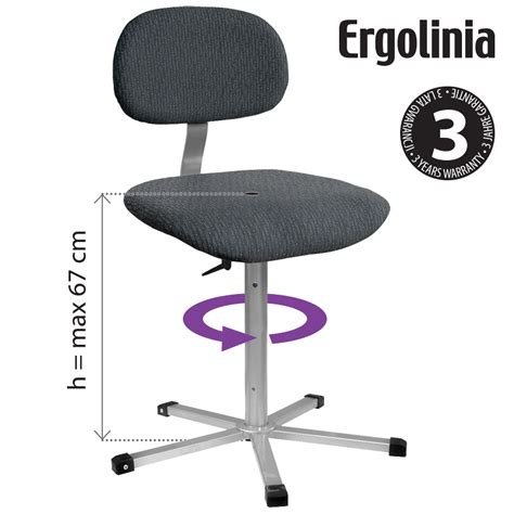 Rotary Chair by Ergolinia 10002 Industrial Rotary Chair Upholstered