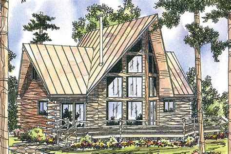 Cabin Garage Plans by A Frame House Plans Chinook 30 011 Associated Designs
