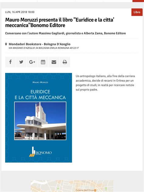 libreria bonomo bologna luned 236 16 aprile ore18 presento il mio libro euridice e
