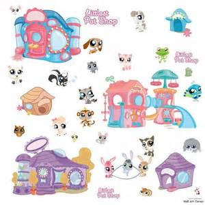 littlest pet shop boys girls vinyl wall sticker decal popscreen download removable reusable stickers set