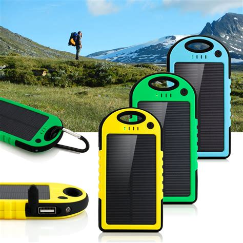 Power Bank Solar 5000mah 5000mah dual usb waterproof dustproof solar power bank solar panel battery charger for iphone