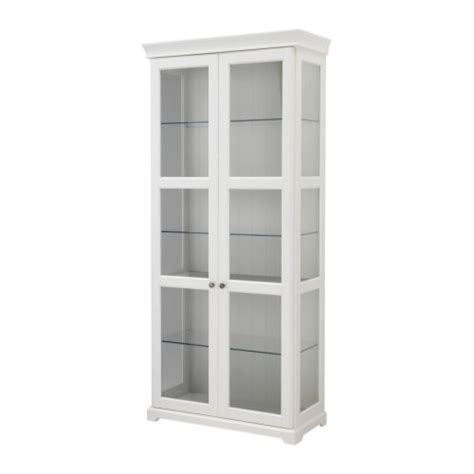 White Storage Cabinet With Glass Doors Liatorp Glass Door Cabinet White Ikea