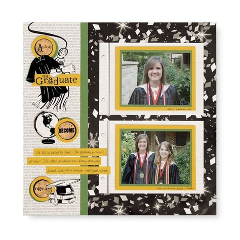 scrapbook layout graduation pin by sjom on graduation scrapbook pinterest