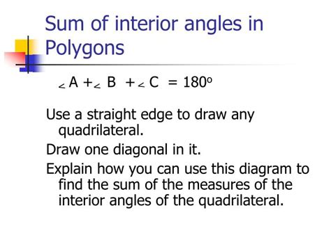 Find The Sum Of Interior Angles by Ppt Angle Relationships Powerpoint Presentation Id 5684679