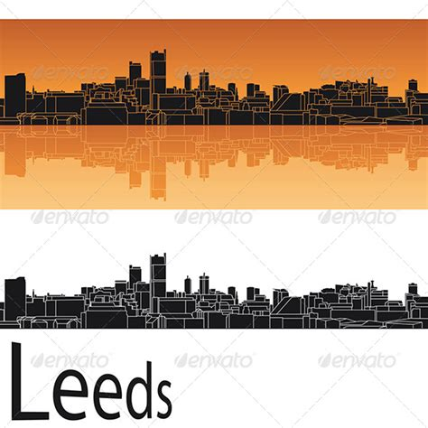 tattoo menu leeds leeds skyline in orange background by paulrommer