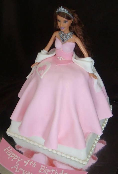 barbie fondant cake elegant barbie fondant cake cake decorating pinterest