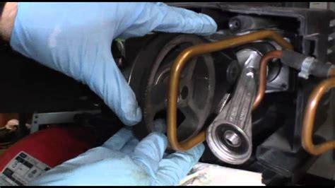 replacing  broken belt   air compressor