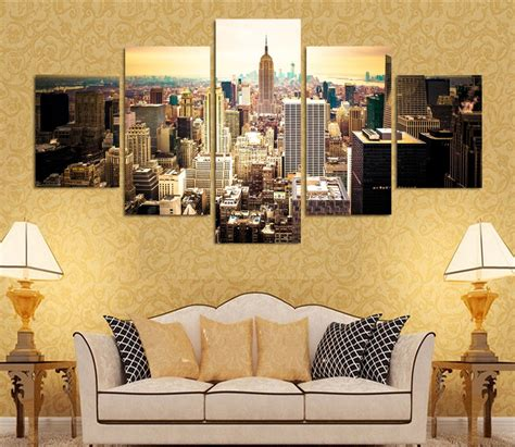 fashion hd printed new york city canvas painting children