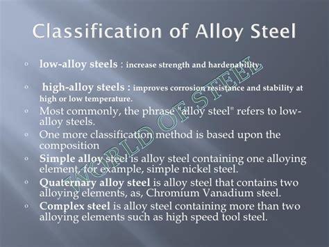 types of steel alloys alloy steel