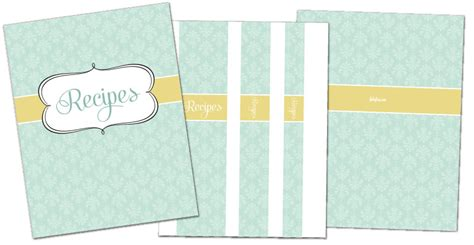 printable recipe binder covers free recipe binder in 3 color options fab n free