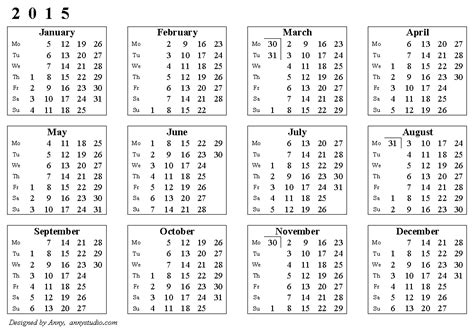 printable calendar 2015 with week numbers free printable calendars and planners 2018 2019 2020