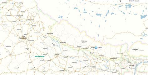 map of lalitpur nepal lalitpur map
