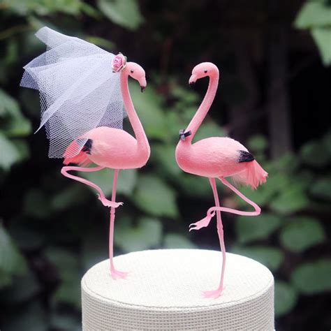 pink flamingo wedding cake topper groom cake topper