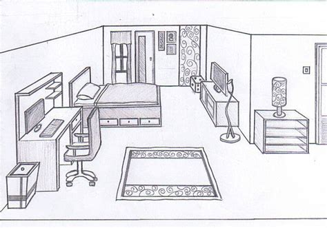 how to draw your bedroom draw interior design bedroom bedroom sketch by cornerart