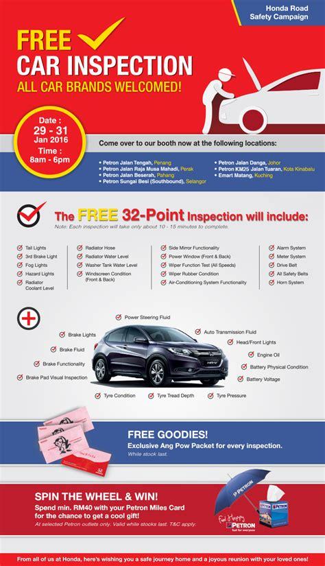 free car inspection free car inspection for cny discoverjb 新山优质资讯平台