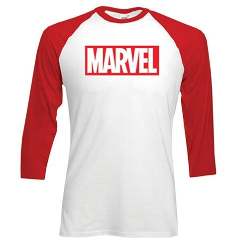 Raglan Superheroes 18 Ordinal Apparel marvel comics s raglan baseball marvel logo for only c 18 55 at merchandisingplaza ca