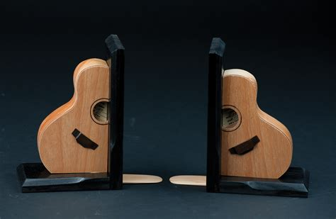 Handmade Bookends - handmade guitar bookends
