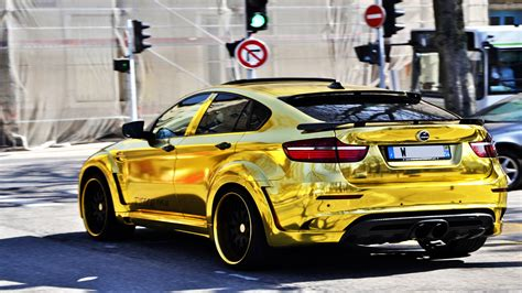 golden cars wallpaper gold bmw x6m custom hamann supreme edition 1 dream cars