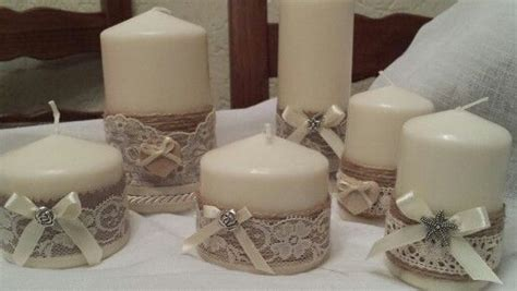 candele decorate candele decorate con pizzo creare con
