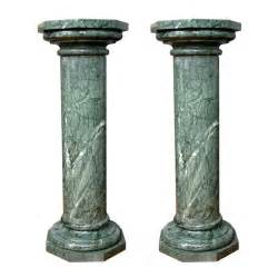 Art Pedestals For Sale Vintage Pair Of Italian Hand Carved Columns In Veined