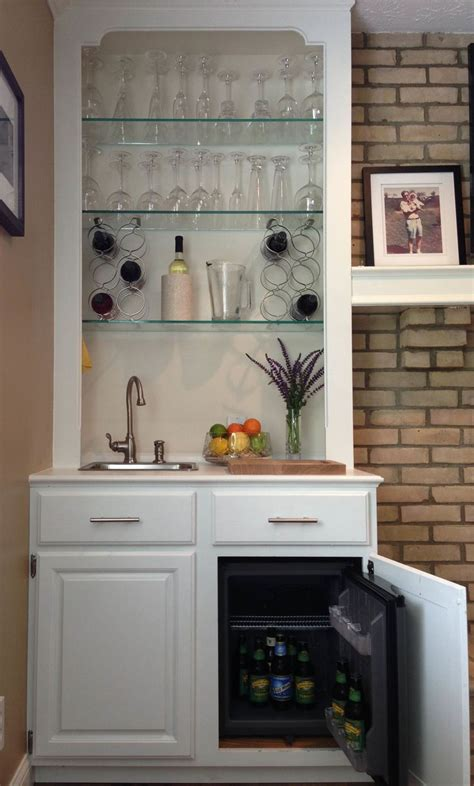 wet bar cabinets home depot built in wet bar i converted an ugly mirror backed book