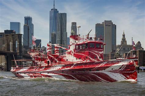 fireboat john j harvey youtube historic fireboat in nyc turned into floating work of art