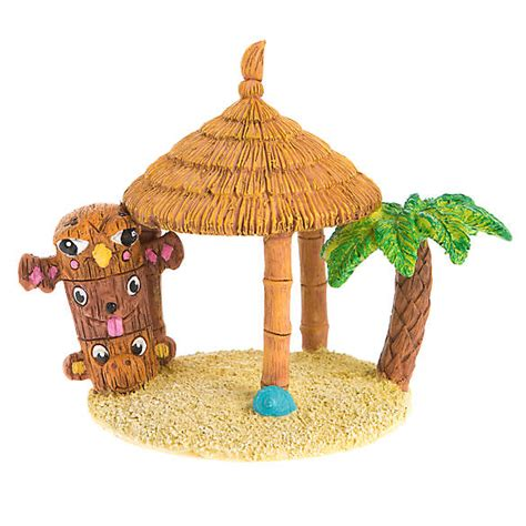 Tiki Hut Topper Top Fin 174 Tiki Hut Aquarium Ornament Fish Ornaments