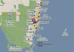 Miami Lakes Map by Sighting Reports 2010
