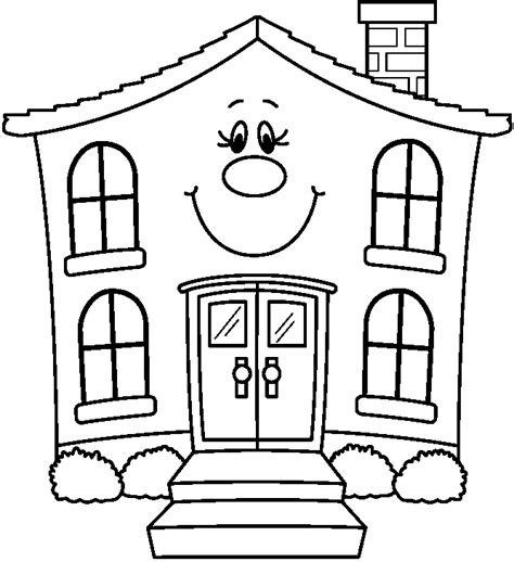 black and white home house clipart coloring black white clipartion com