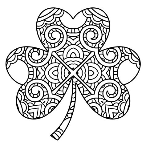 shamrock coloring pages free shamrock coloring pages with page free archives