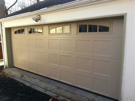Sandstone Color Garage Door by Haas 660 18 0 X7 0 Carriage House Panel