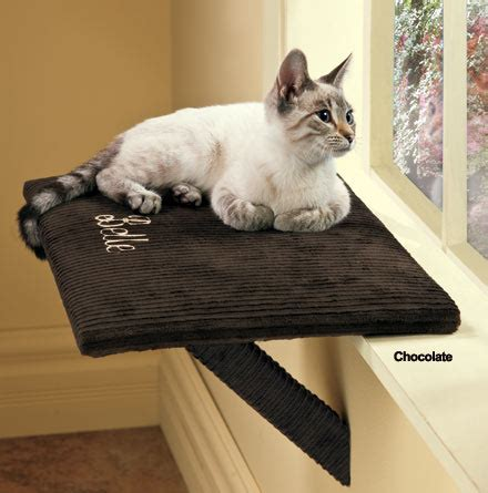 Cat Windowsill Perch personalized cat window perch simply suede window perch