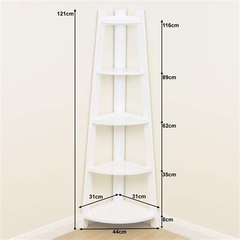 White Bathroom Shelving Unit by White 5 Tier Corner Shelf Shelving Unit Display Stand