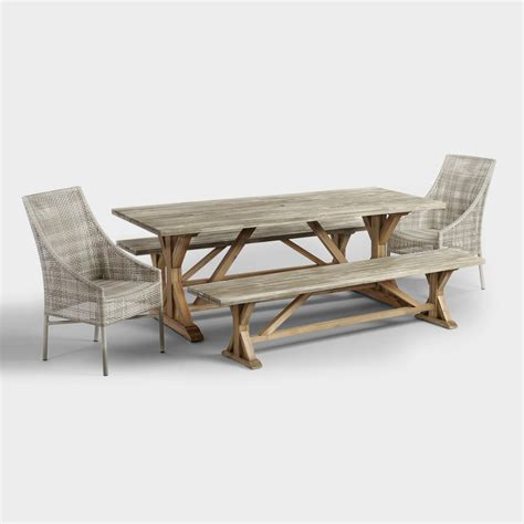 world market outdoor table san remo outdoor dining collection world market
