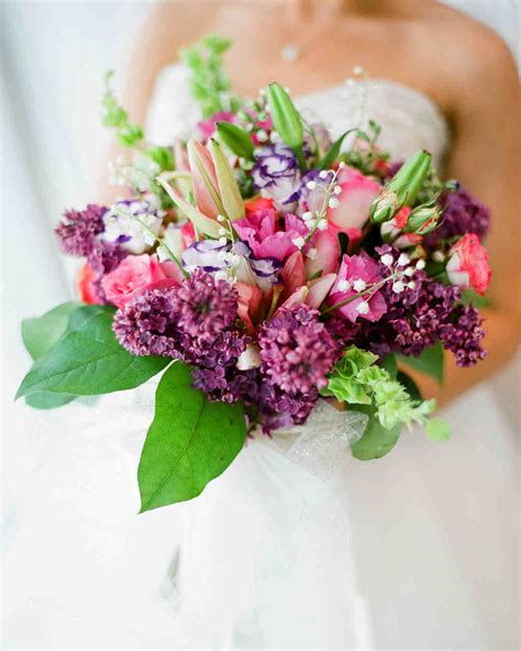 Purple Flowers Wedding by Purple Wedding Bouquets Martha Stewart Weddings