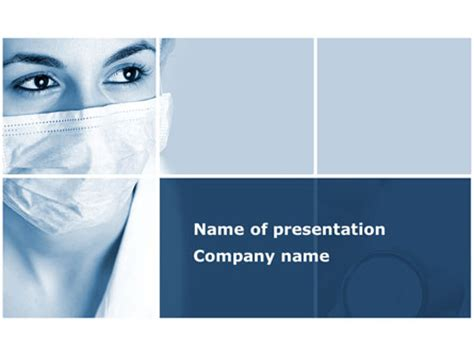 medical mask  template  powerpoint
