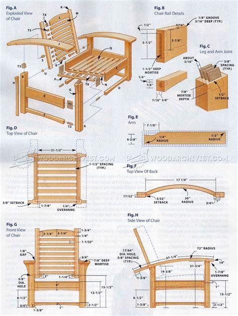 recliner plans morris chair plans woodarchivist