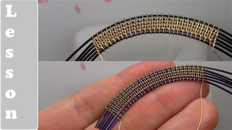 youtube tutorial wire wrapping wire weaving wrapping style using 6 base wires complex