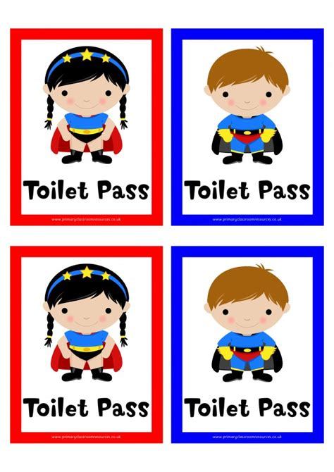 girls bathroom pass superhero toilet pass digital download dd pcr01246