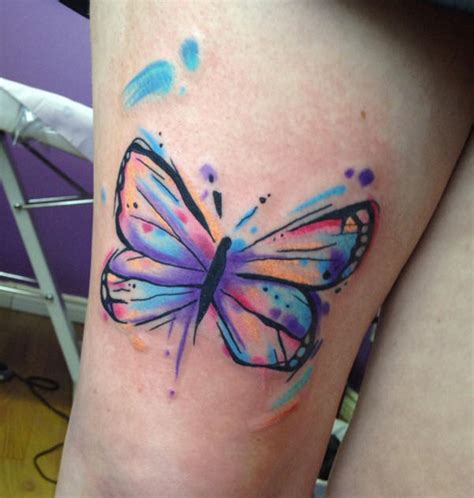 crayons tattoo watercolor butterfly design unique butterfly