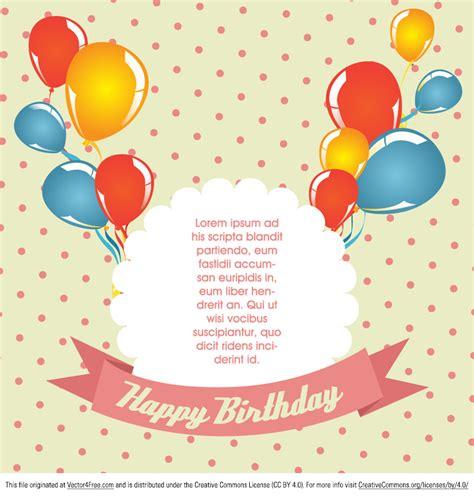 free vector birthday card template free polka dot birthday card vector