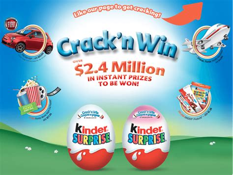Instant Win Canada - kinder canada crack and win contest instant win a fiat