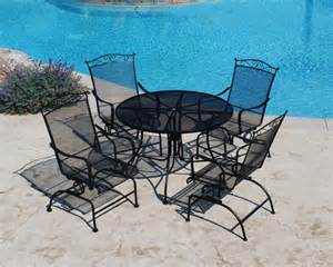 backyard creations 5 wrought iron dining collection
