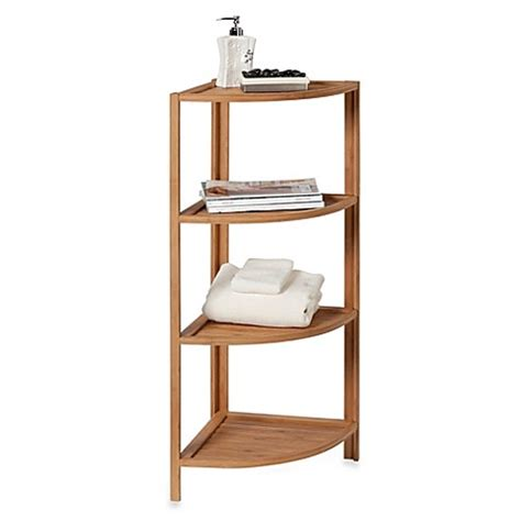 bed bath beyond bamboo bathroom furniture ecostyles 4 shelf bamboo corner tower bed bath beyond